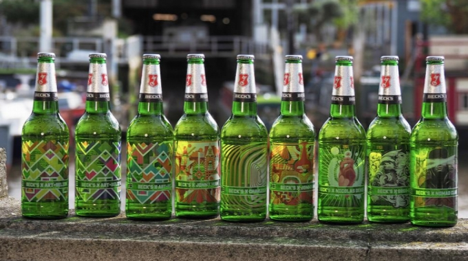The Becks artist limited edition bottles launched on the UK market