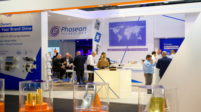 Phoseon Technology introduced the FireJet FJ645 UV LED self-contained, air-cooled curing lamp for flexo applications