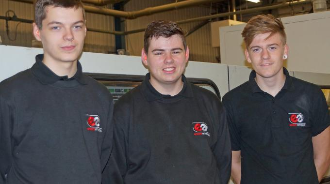 Pictured (from left): Sean English, Joe Tighe and Dylan Pearson