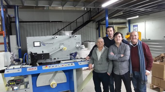Pictured (from left): Raul Teixeira of Lemorau, Vitor Oliveira of Bestgraf, Pedro Teixeira of Lemorau and José Cardoso of Bestgraf