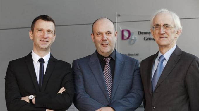 Pictured (from left): Andrew Denny, Graham Denny and Barry Denny