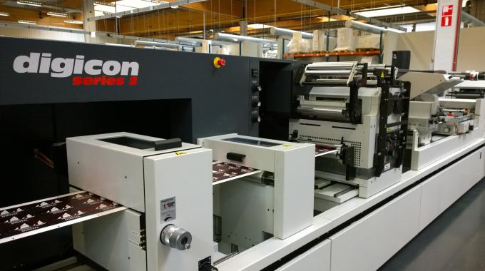 AB Graphic had a Digicon Series 2 converting line at the Xeikon Café Packaging Innovations event