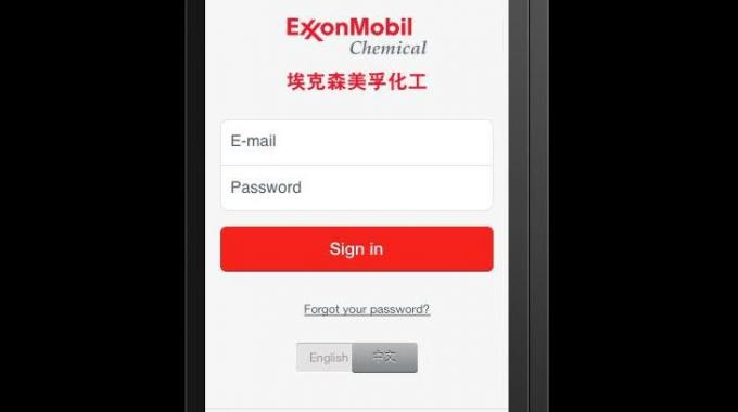 Mobile app to provide information about ExxonMobil