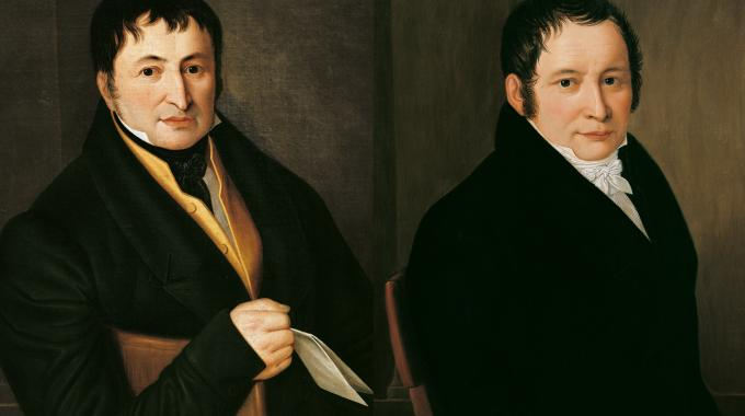 Nearly three years later, on August 9, 1817, Koenig (left) and Bauer (right) founded the world's first printing press factory Schnellpressenfabrik Koenig & Bauer in a secularized monastery in Oberzell, near Würzburg, Germany