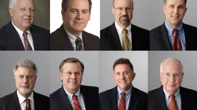 Pictured: (top row, left to right) Paterson, Fellows, Mundy and Weinhold - (bottom row, left to right): Duffy, Kesser, Sawyer, Hinchman IV