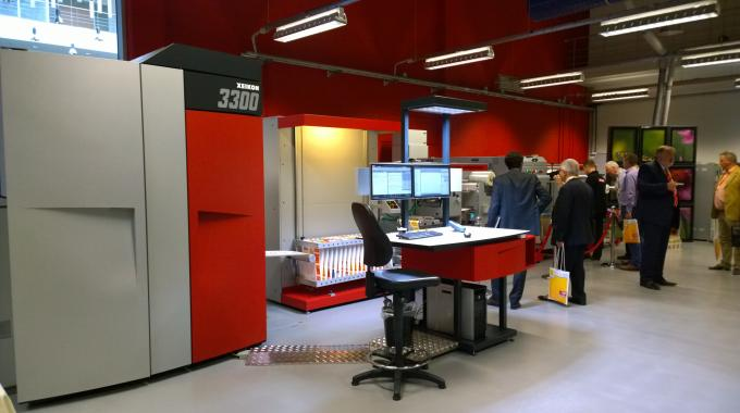 A Xeikon 3300 was printing and converting pharmaceutical labels at Xeikon Café Packaging Innovations