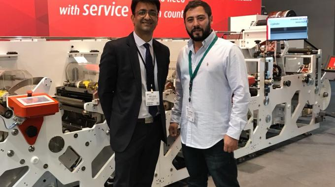 Amit Ahuja, sales director at Multitec (left) with Pooya Mahboubi from Kalabarchsb, Iran