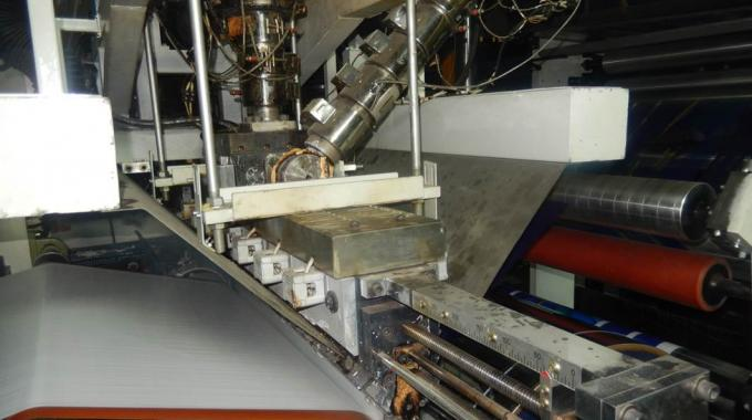 T-die section of the extrusion lamination machine EL-1300 manufactured by Uflex