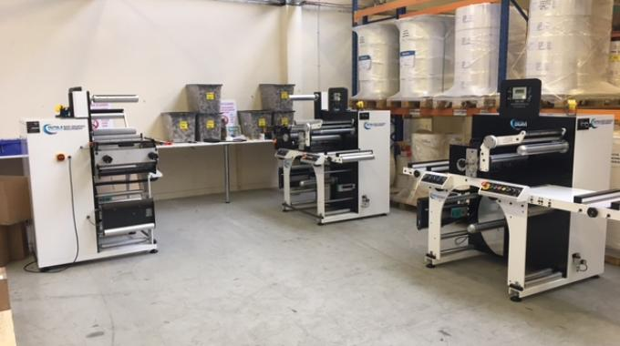 Labelaid has invested in two more BGM Elite eDSR Easy Load die-cutting machines together with BGM's new 410 iSR label inspection slitter rewinder.