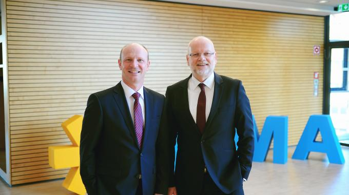 'Actually finding these new employees is a prerequisite for fully using our growth opportunities' - Herma's managing directors, Sven Schneller (left) and Dr Thomas Baumgärtner (right)