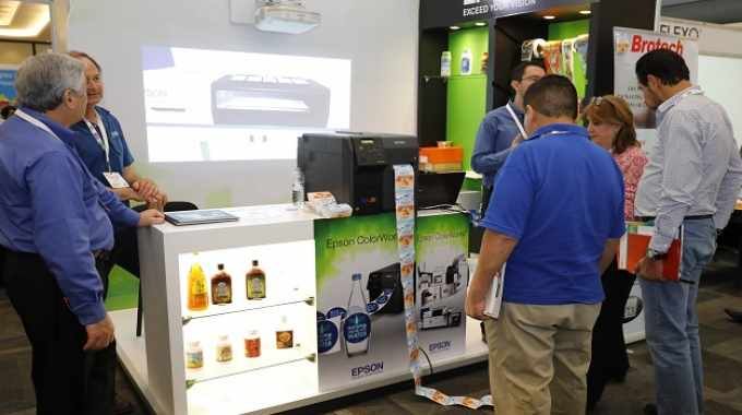 The Epson booth, where SurePress for the Latin American market was also introduced