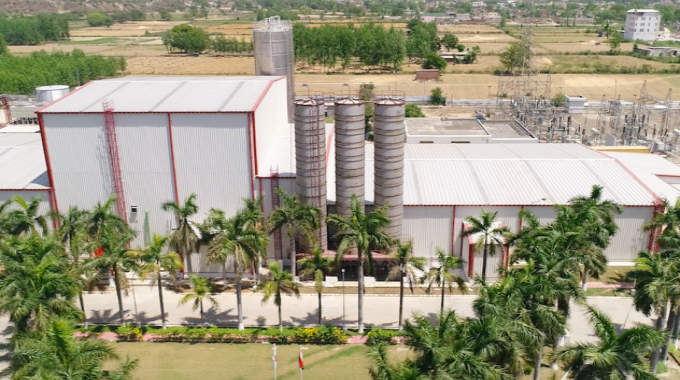Aerial view of Max Speciality Films factory