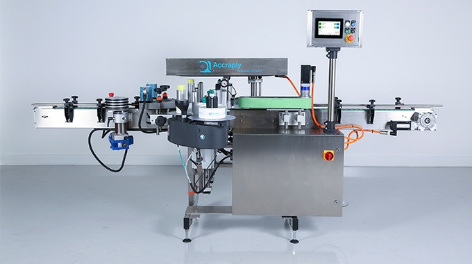 Accraply has introduced the Sirius 100, a cost-effective pressure-sensitive labeling machine for fast-moving, highly flexible production lines