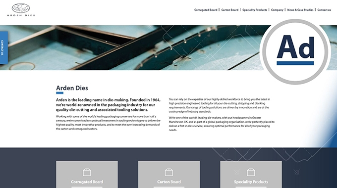 Arden Dies has undergone a major rebrand with a fresh modern look and a new website