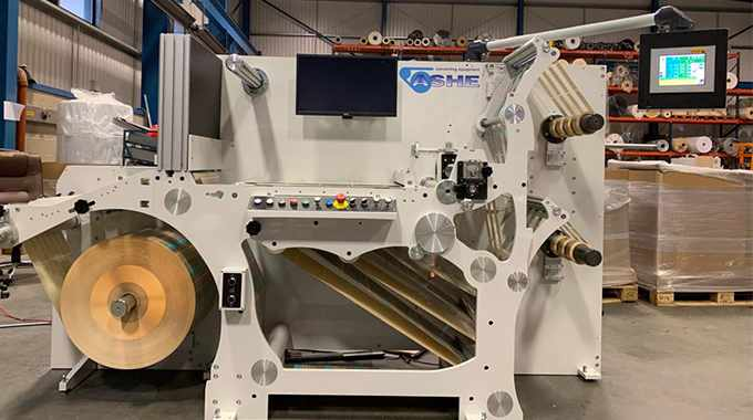 Ashe Converting Equipment will launch its new Opal 'ISR' series with 100 percent visual camera inspection system at Labelexpo Europe