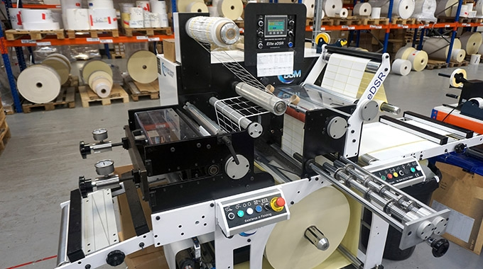 Aztec Label, UK-based manufacturer of self-adhesive label and tag products, has invested in a Bar Graphic Machinery Elite eDSR easy load die-cut slitter rewinder