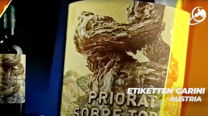 Priorat Sobre Todo by Etiketten Carini, Austria, won the Best In Show label for the 2021 Finat Label Competition