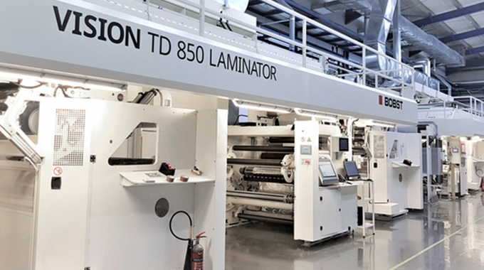 A Hatzopoulos has installed a Bobst Vision TD 850 tandem laminator to increase its capacity