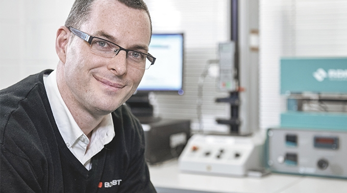 Nick Copeland has received the first Bobst Inventor Award for his work on the AluBond patent