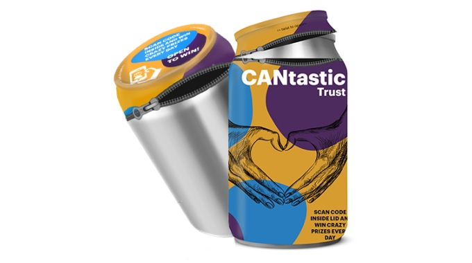 CANtastic combines an aluminum can and shrink sleeve
