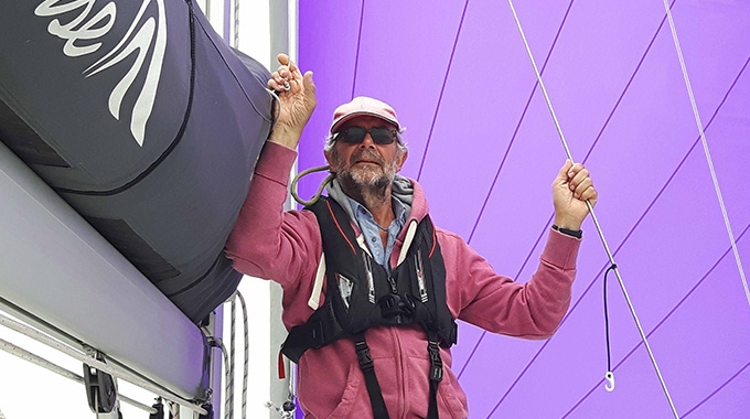 Dave Chandler aboard his yacht the Finona