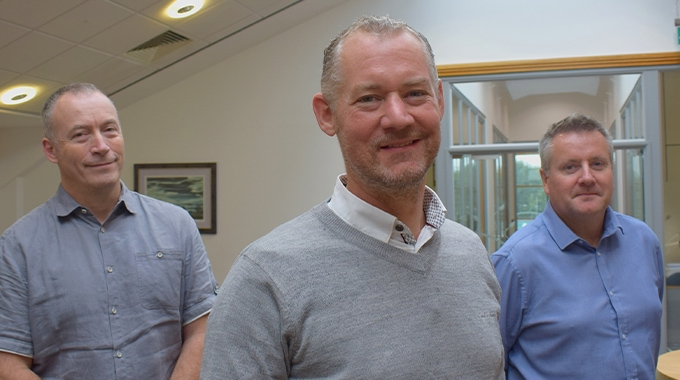 L-R: Jon Blackham, regional sales manager for the southern region; Paul Johnson, general manager; James Newnham, regional sales manager for the northern region