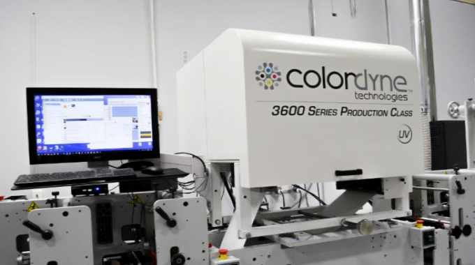 This collaboration leverages Kao Collins' expertise in developing inkjet inks with Colordyne's modular 3600 Series UV digital inkjet print engine