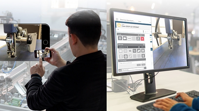 Domino has launched an augmented reality (AR) application, SafeGuard AR, to provide real-time, remote visual support for customers worldwide