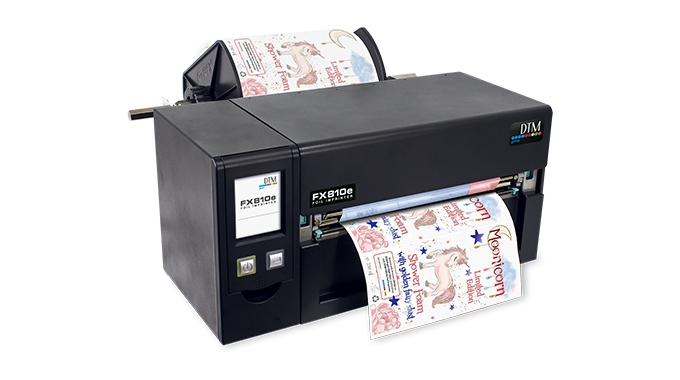 DTM Print unveils new Industrial-grade thermal foil imprinting system for up to 8in wide labels - DTM FX810e