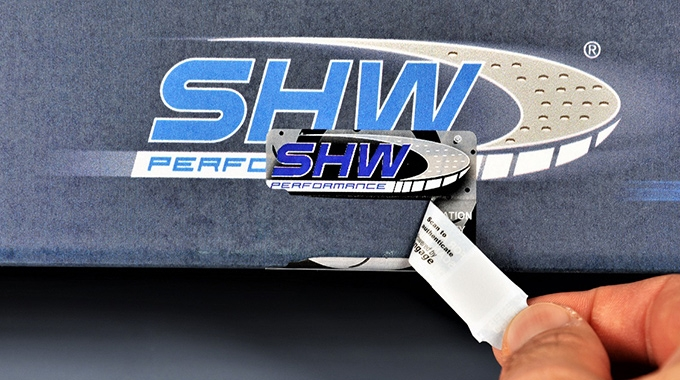 SHW Brake Systems, has chosen to protect its new brand with a tamper-evident label incorporating the powerful technology engage from Eltronis