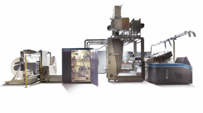 Enprom's product range includes the eSR2F 110 slitter rewinder with two stations for in-line printing