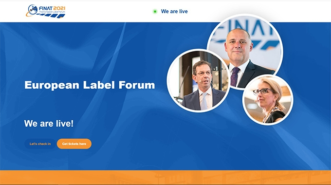 The 2021 online European Label Forum convened by Finat has hosted 750 attendees from label printing companies, suppliers and organizations from across Europe