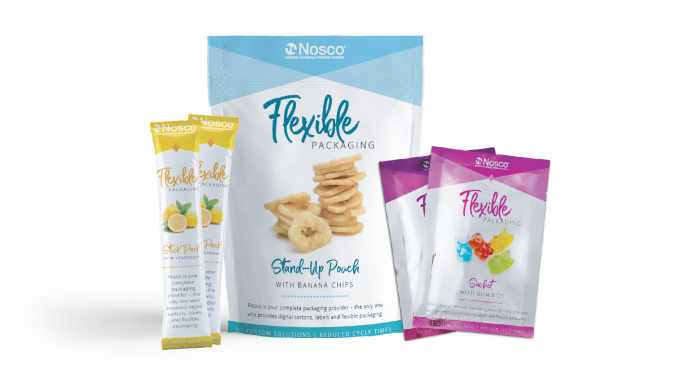 Flexible packaging applications printed by Nosco on HP