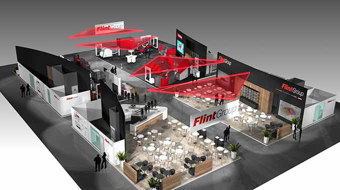 Flint's stand at Labelexpo Europe 2019