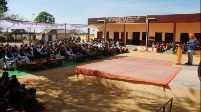 Siegwerk has handed over a new building to Government Senior Secondary School in Deengli Village, District Alwar in Rajasthan.
