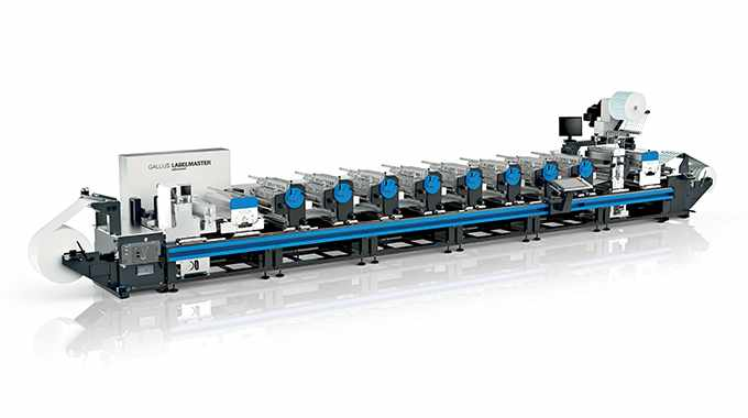 The Gallus Labelmaster conventional press shows new features such as the Digital Printbar and Rotary Die-Cut Unit Quick