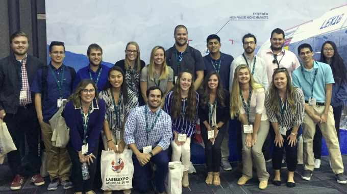 Illinois State University Graphic Communications students at Labelexpo