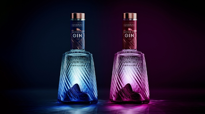 Shivering Mountain has chosen Antalis' Curious Metallics papers to create luxurious branding for its premium gin