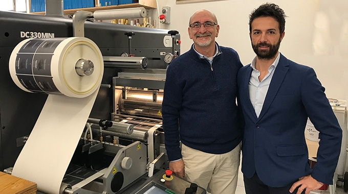 L-R: Fabio Piacentino, owner of GrafiPrint and Luca Marvini, general manager of GM Italy