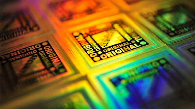 The new edible holograms could be 'printed' on food has said the International Hologram Manufacturers Association