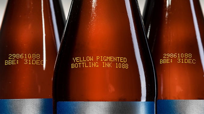 Linx Printing Technologies has launched its new Linx Yellow bottling ink 1088