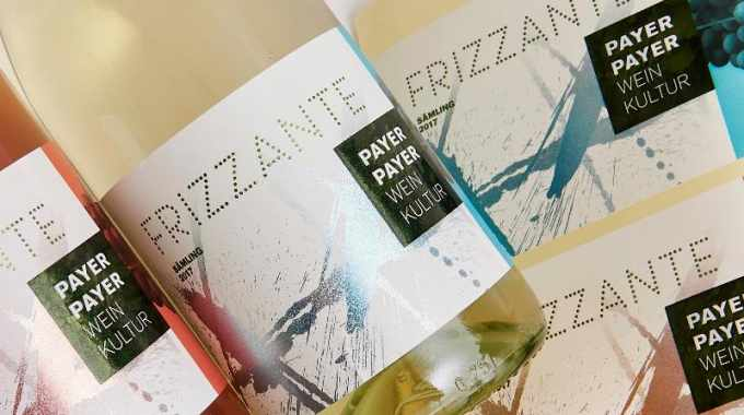 The winning 'Frizzante' label was produced for the local winery Weingut PayerPayer and was printed and converted on a Gallus Labelfire press