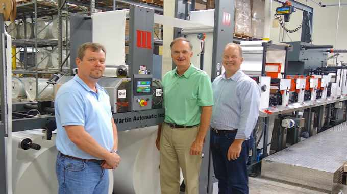 Kinetic Label Services moves forward with Martin Automatic butt splicer