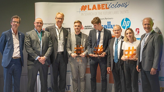 The winners of the first edition of #LABELicious awarded during Labelexpo Europe in Brussels in 2019