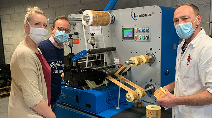 Rubaco Etiquettes has increased its production capacity with the latest investment in a Lemorau MEBR+ modular digital finishing machine