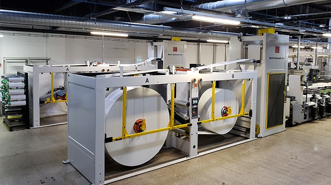 Reflex Labels invests in two Martin Automatic unwind/splicers