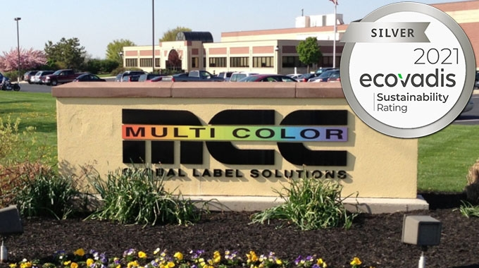 Multi-Color Corporation has been awarded the EcoVadis silver rating for its sustainability efforts