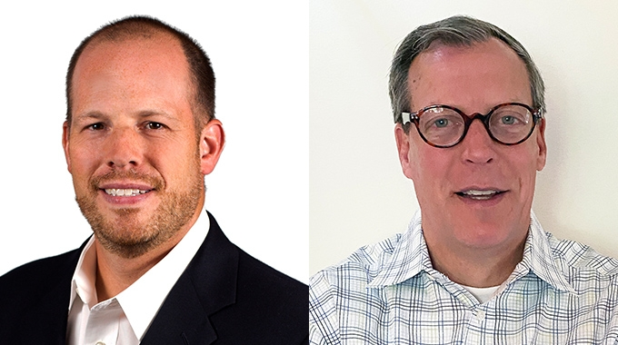 L-R: Dave Jeffers, new  territory sales manager for digital printing at Michelman; Pete Petrie, new sales director for printing and packaging, Americas region at Michelman