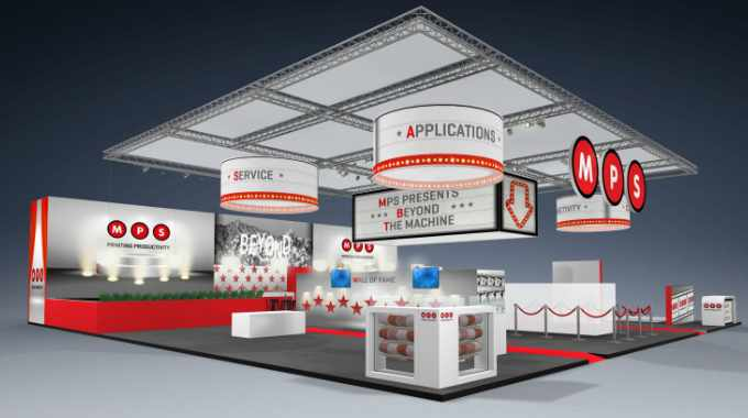 Artist impression of MPS stand for Labelexpo Europe 2019