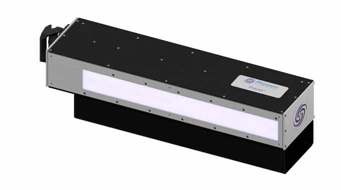 Phoseon Technology is introducing the FireJet FJ645 UV LED self-contained, air-cooled curing lamp for flexo applications at Labelexpo Europe 2019